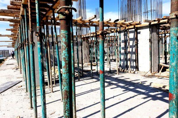 Процесс заливки 7-го этажа ЖД