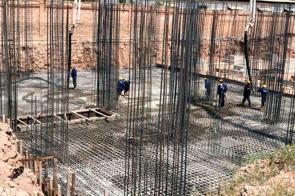 Фотоотчет процесса заливки бетона в ЖК «Cosmos»